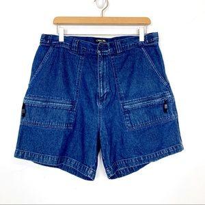 Vintage high waisted jeans shorts mom shorts dark